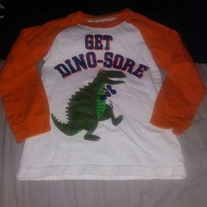 4 for $10! Dinosaur long sleeve tee size 5t
